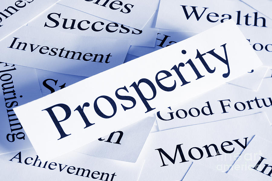 Blue Photograph - Prosperity Concept by Colin and Linda McKie