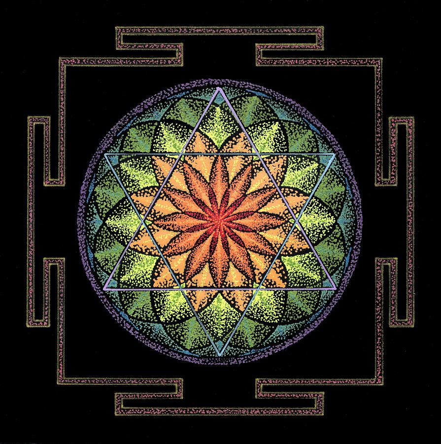 Healing Mandala Painting - Prosperity by Keiko Katsuta