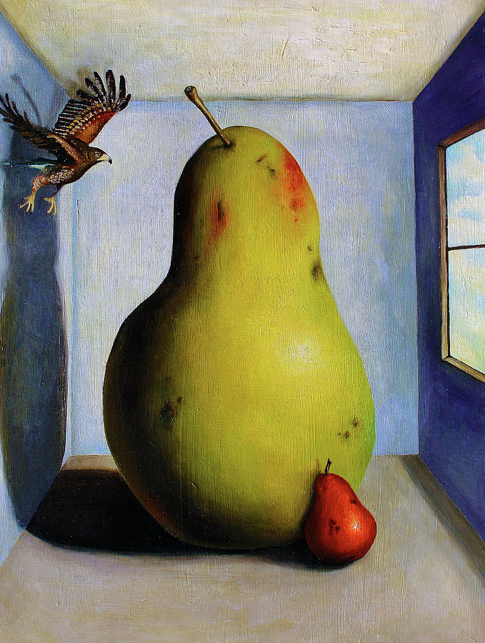Pears Painting - Protecting Baby 5 by Leah Saulnier The Painting Maniac