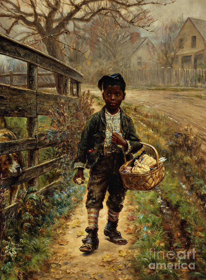 Sweet Painting - Protecting The Groceries by Edward Lamson Henry