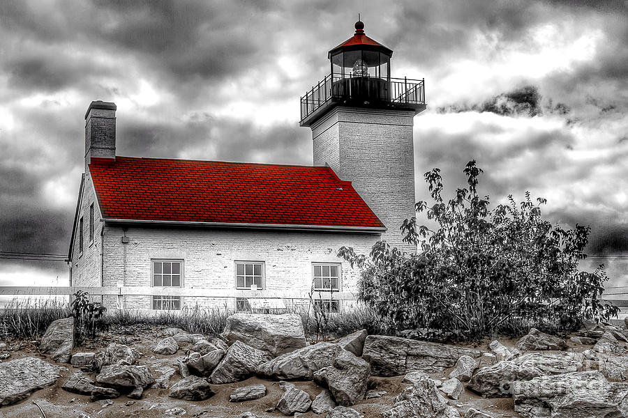 Protector Of The Harbor - Sand Point Lighthouse Photograph
