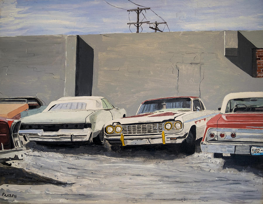 Cars Painting - Proto Low Riders by Patricio Lazen
