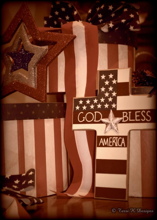 Red Photograph - Proud American by Terri K Designs