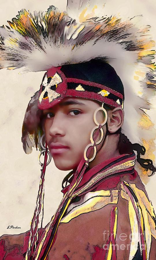 Impressionism Photograph - Proud Indian Boy by Linda  Parker
