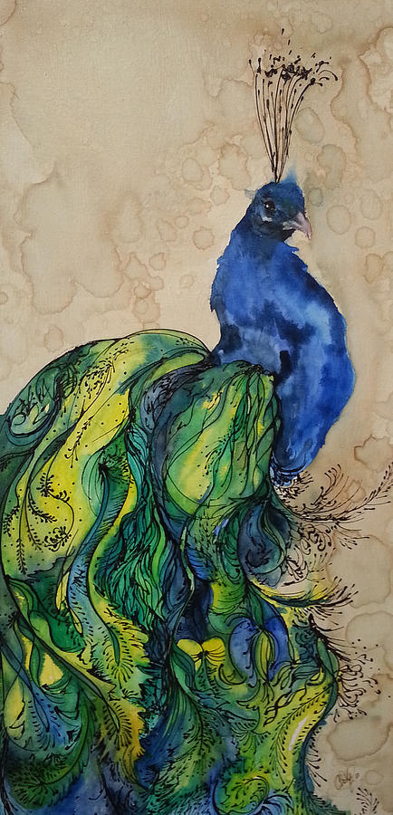 Proud Peacock Blue by Christy Freeman Stark