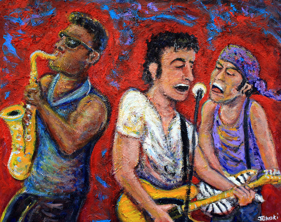 Bruce Springsteen Painting - Prove It All Night Bruce Springsteen And The E Street Band by Jason Gluskin