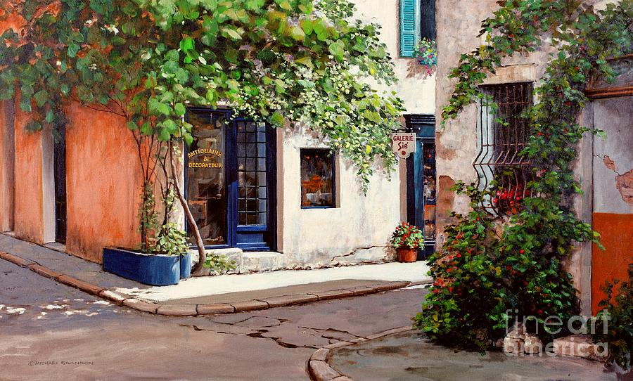 French Landscape Painting - Provence Antiques by Michael Swanson