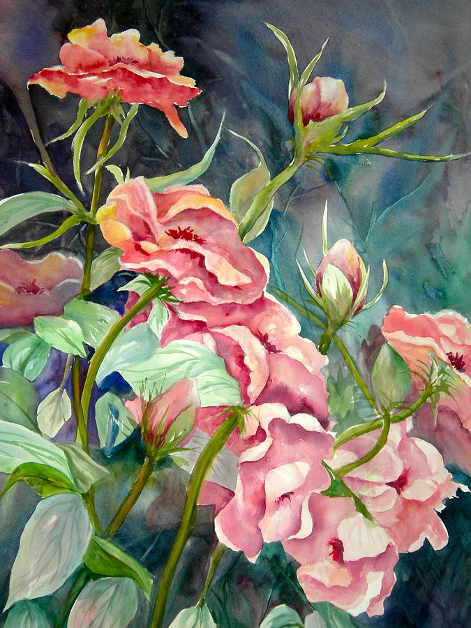 French Rose Painting - Provence Roses by Becky Taylor