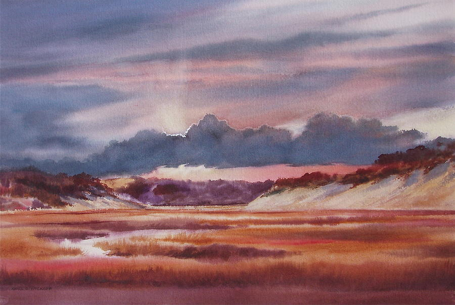 Dramatic Painting - Provincelands by Karol Wyckoff