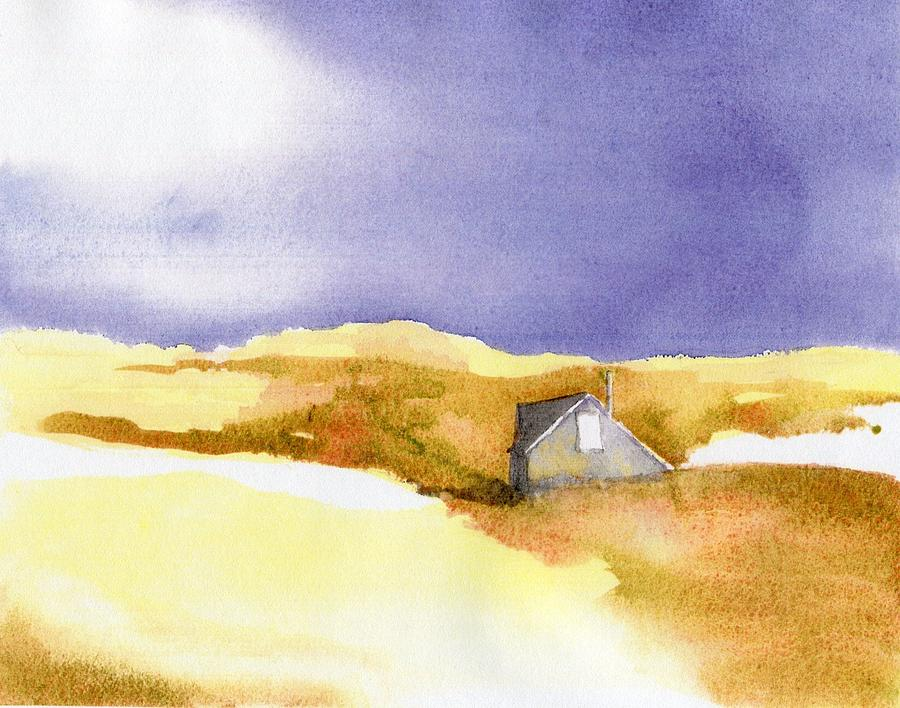 Provincetown Painting - Provincetown Dune Shack by Joseph Gallant