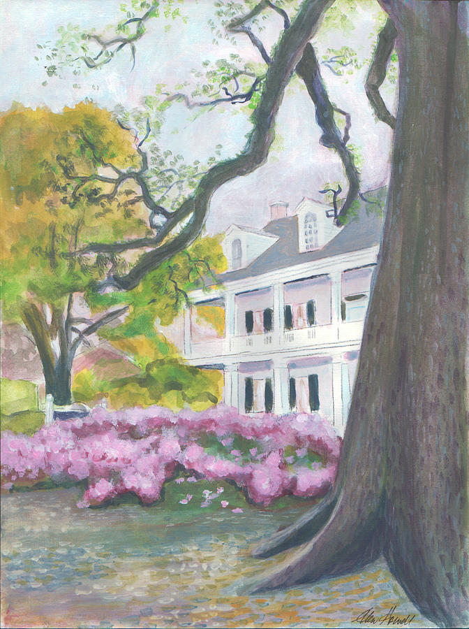 Landscape Painting - Prudhomme-rouquier House In Natchitoches by Ellen Howell
