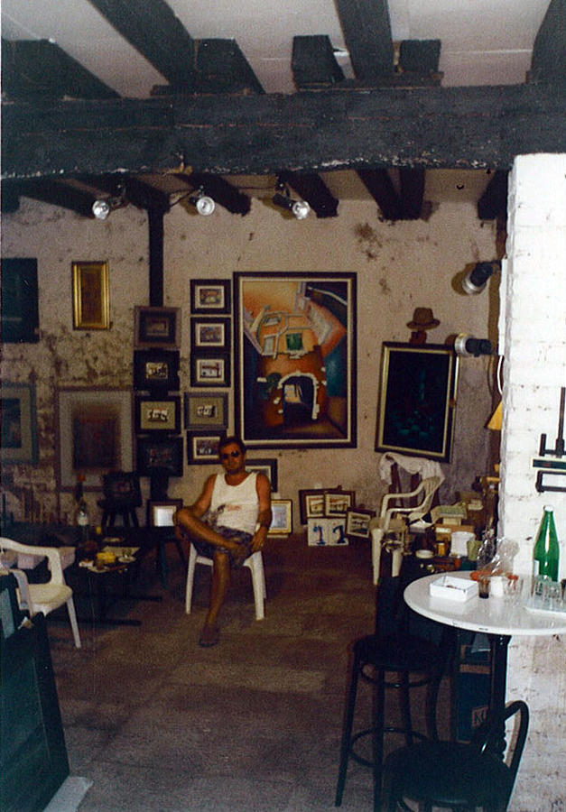 Prvi Ateliwer U Rovinju 1993. Painting by Saso  Petrosevski Novak - SPN