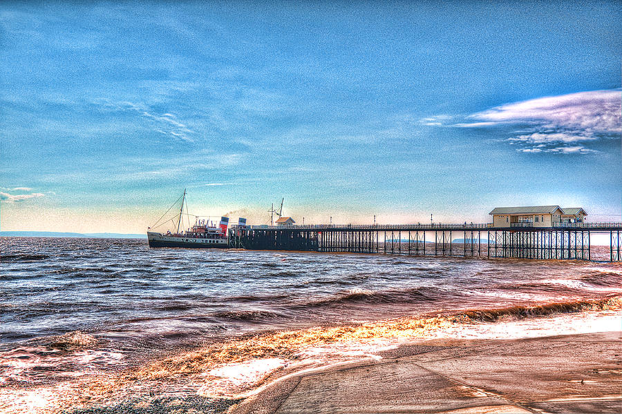 The Waverley Paddle Steamer Photograph - Ps Waverley At Penarth Pier 2 by Steve Purnell