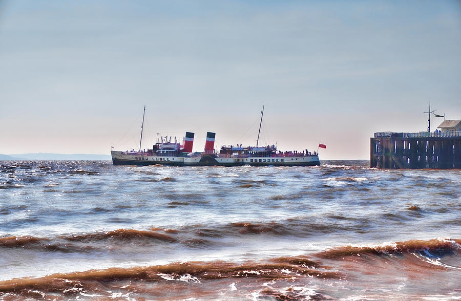 Boat Photograph - Ps Waverley Leaves Penarth Pier 2 by Steve Purnell