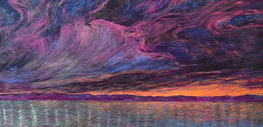 Sky Painting - Psalm 104 3 by J Michael Orr