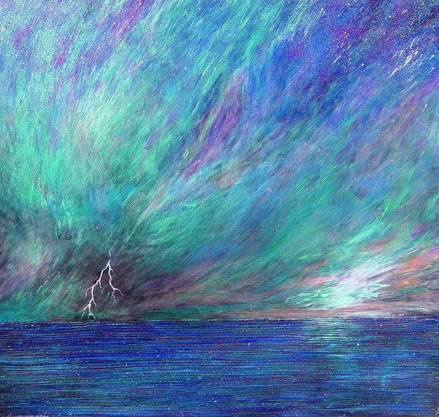 Sky Painting - Psalm 18  12 by J Michael Orr
