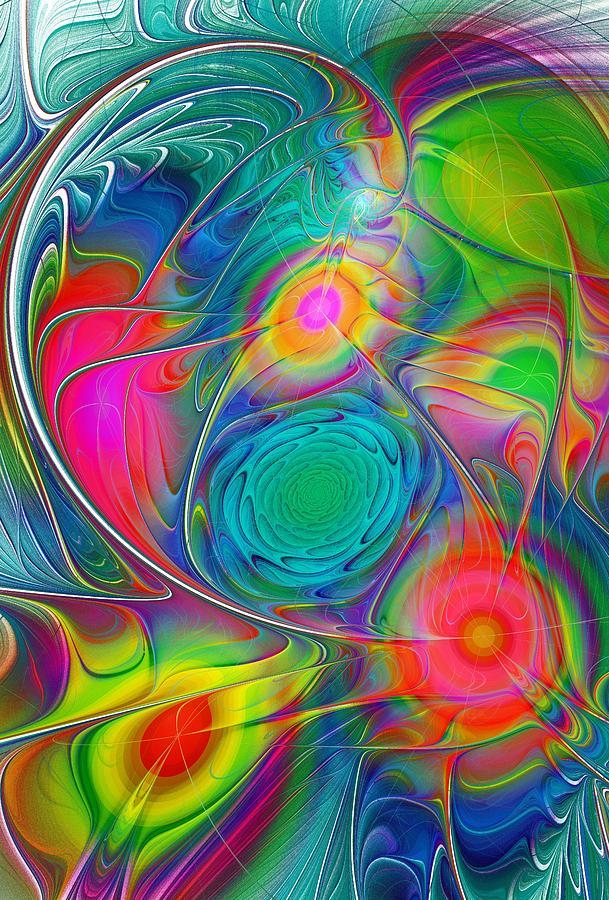 Malakhova Digital Art - Psychedelic Colors by Anastasiya Malakhova