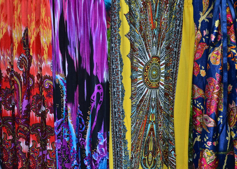 Psychedelic Photograph - Psychedelic Dresses by Frozen in Time Fine Art Photography