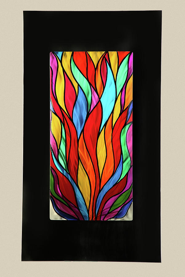 Abstract Sculpture - Psychedelic Flames by Rick Roth