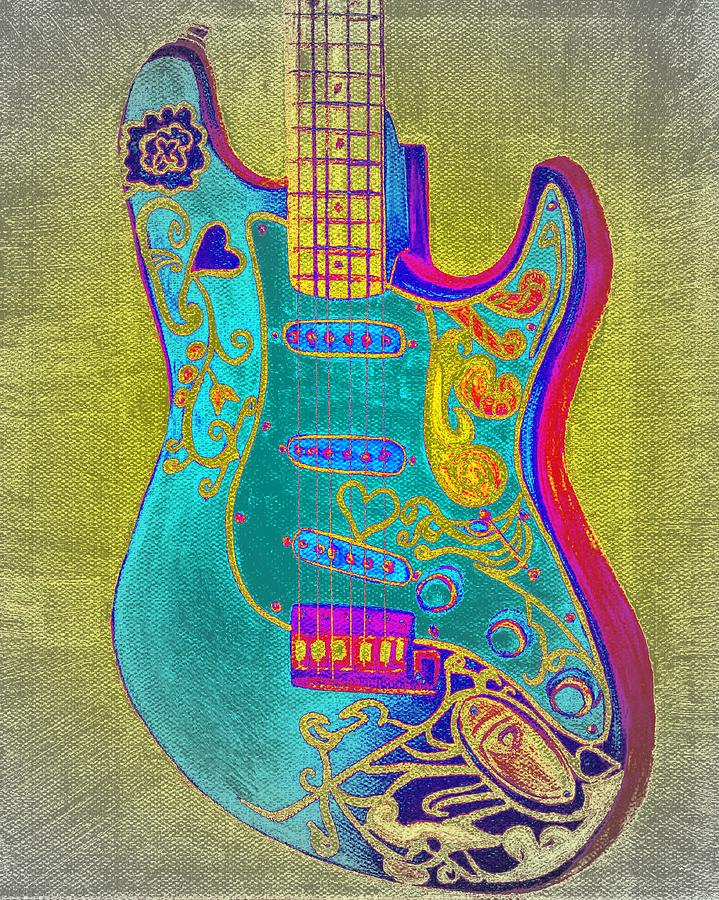 Psychedelic Guitar by Emily Morris