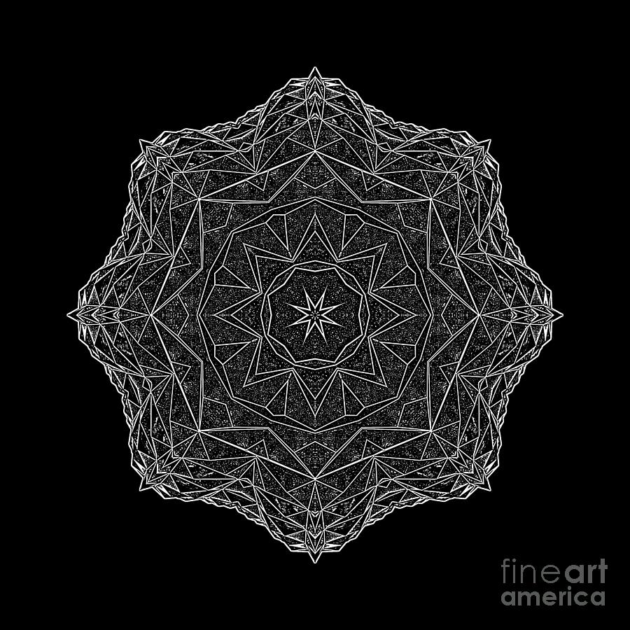 Abstract photography photograph psychedelic lace in white by norman gabitzsch