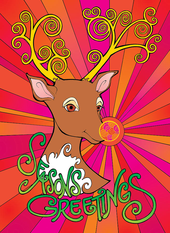 Psychedelic Rudolph by Steven Stines