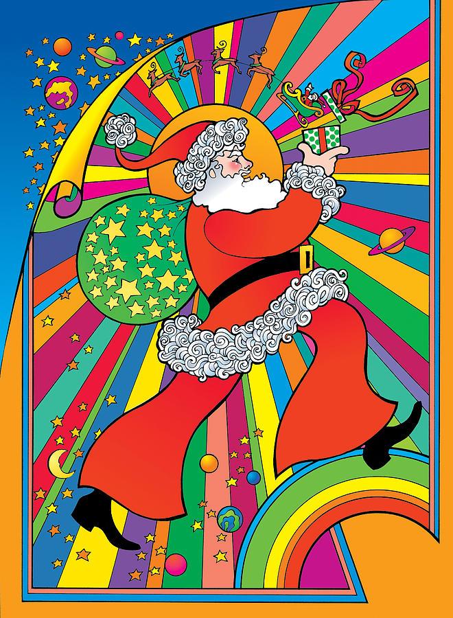 Psychedelic Santa by Steven Stines
