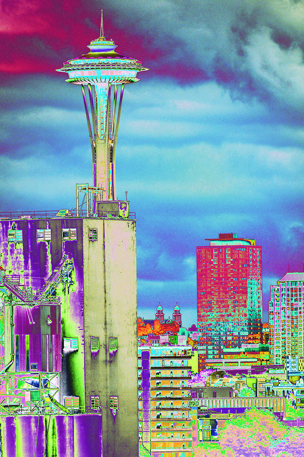 Psychedelic Photograph - Psychedelic Seattle by Richard Henne