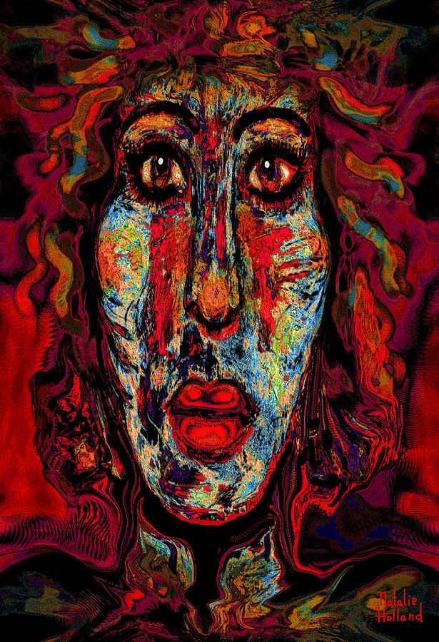 Face Mixed Media - Psychic by Natalie Holland