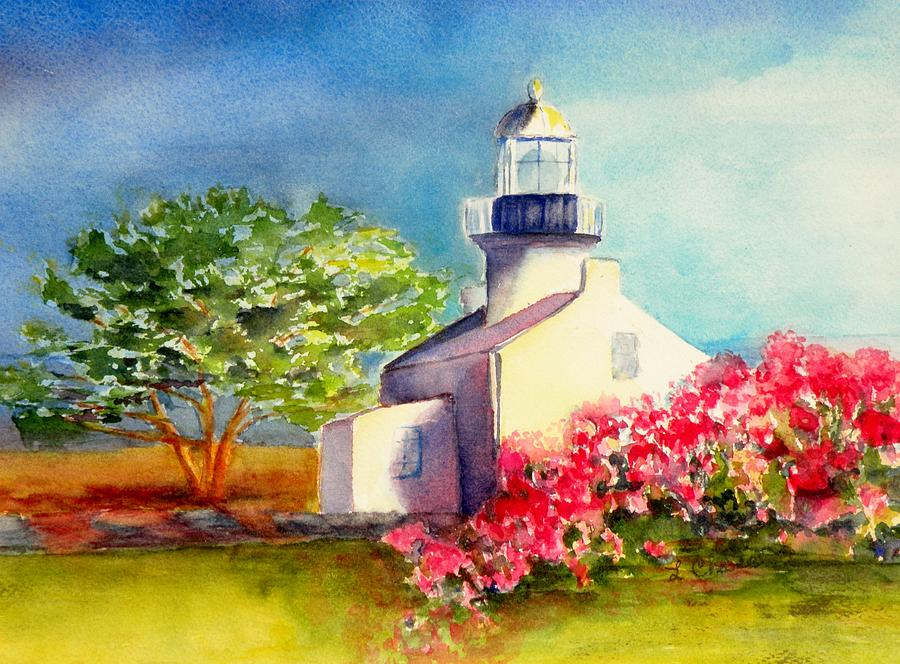 Landscape Painting - Pt Loma Lighthouse by Lori Chase