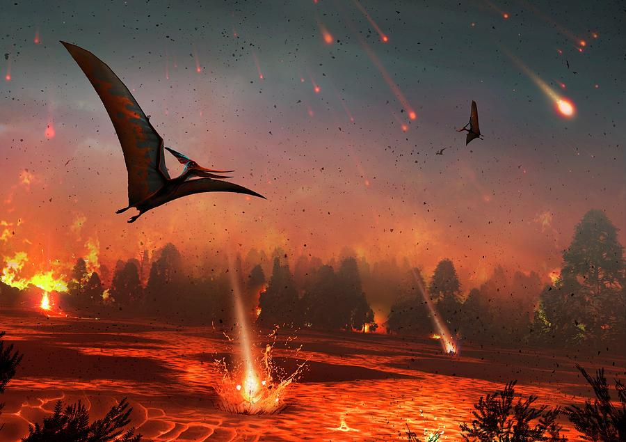 Artwork Photograph - Pterosaurs And Mass Extinction by Mark Garlick