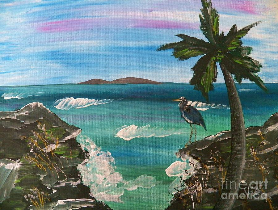 Seascape Painting - Ptg    Contemplation by Judy Via-Wolff