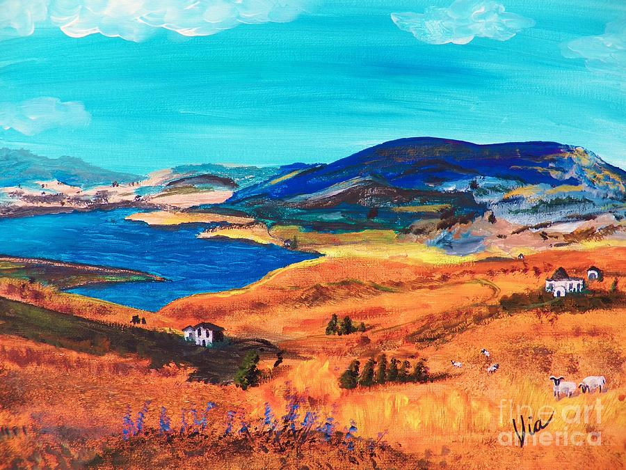 Italy Painting - Ptg   Italian Countryside by Judy Via-Wolff