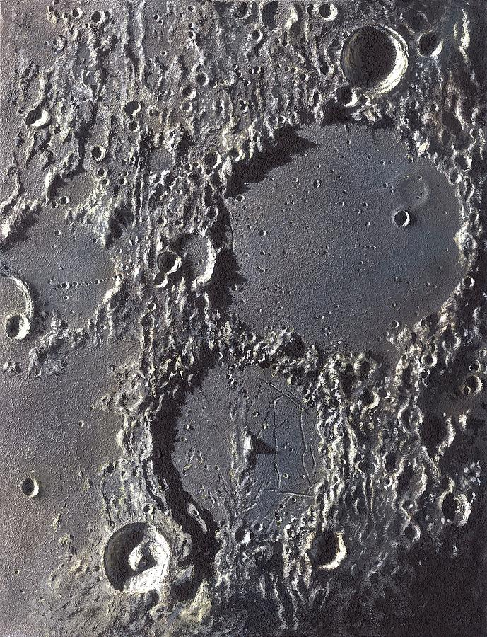Ptolemaeus Photograph - Ptolemaeus And Alphonsus Craters by David A. Hardy/science Photo Library