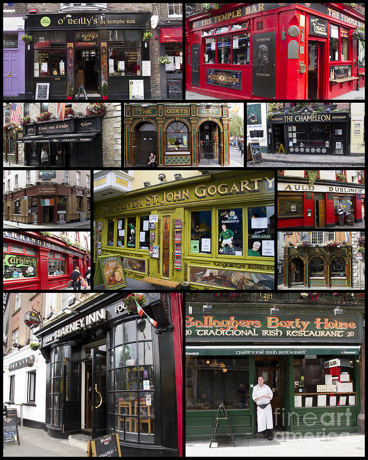 Pubs Photograph - Pubs Of Dublin by David Smith