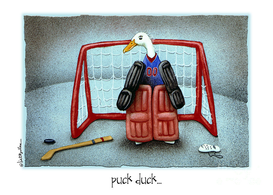 Will Bullas Painting - puck duck... by Will Bullas by Will Bullas