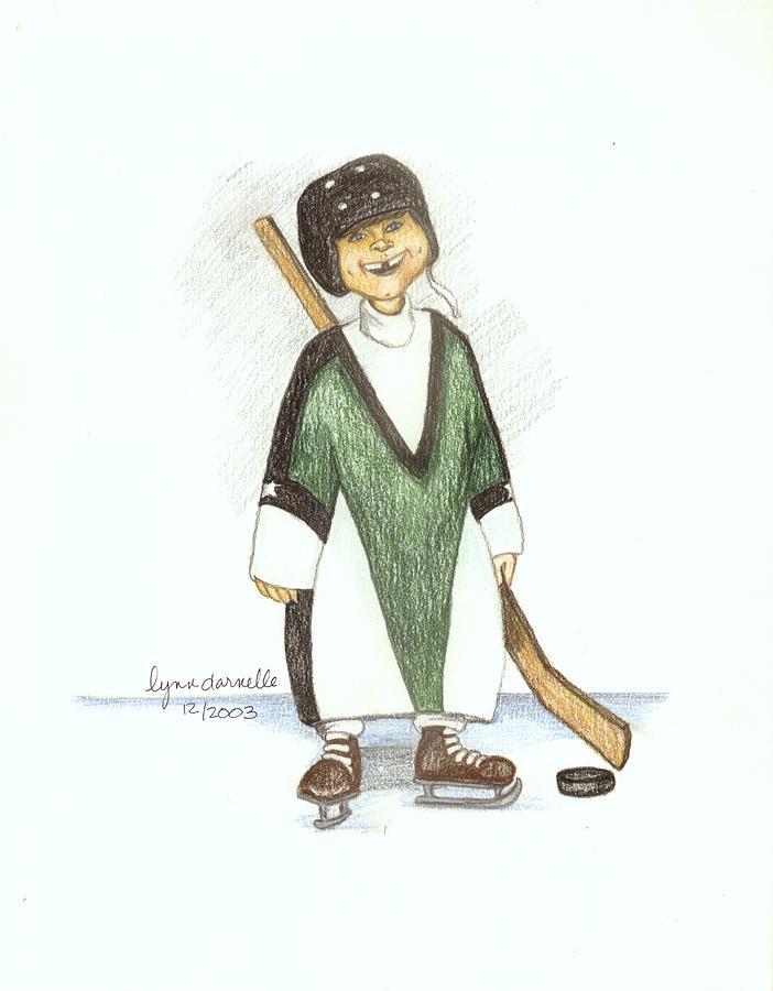 Boy Drawing - Puck by Lynn Darnelle
