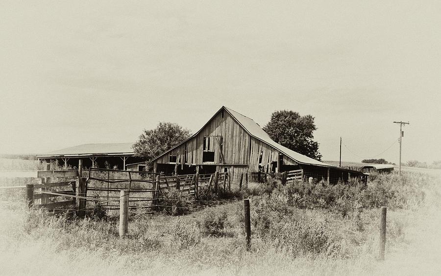 Barn Photograph - Puckerbrush Rd Barn  by Wilma  Birdwell