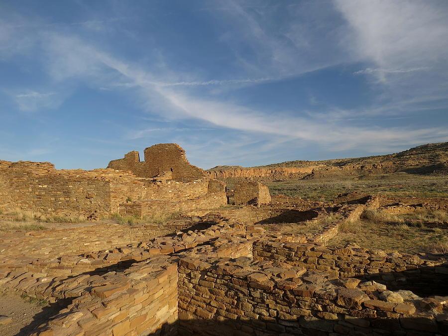 Chaco Photograph - Pueblo Bonito Walls And Rooms by Feva  Fotos