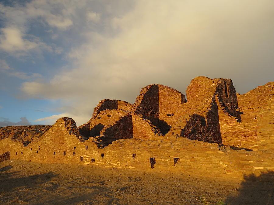 Chaco Photograph - Pueblo Del Arroyo At Sunset II by Feva  Fotos