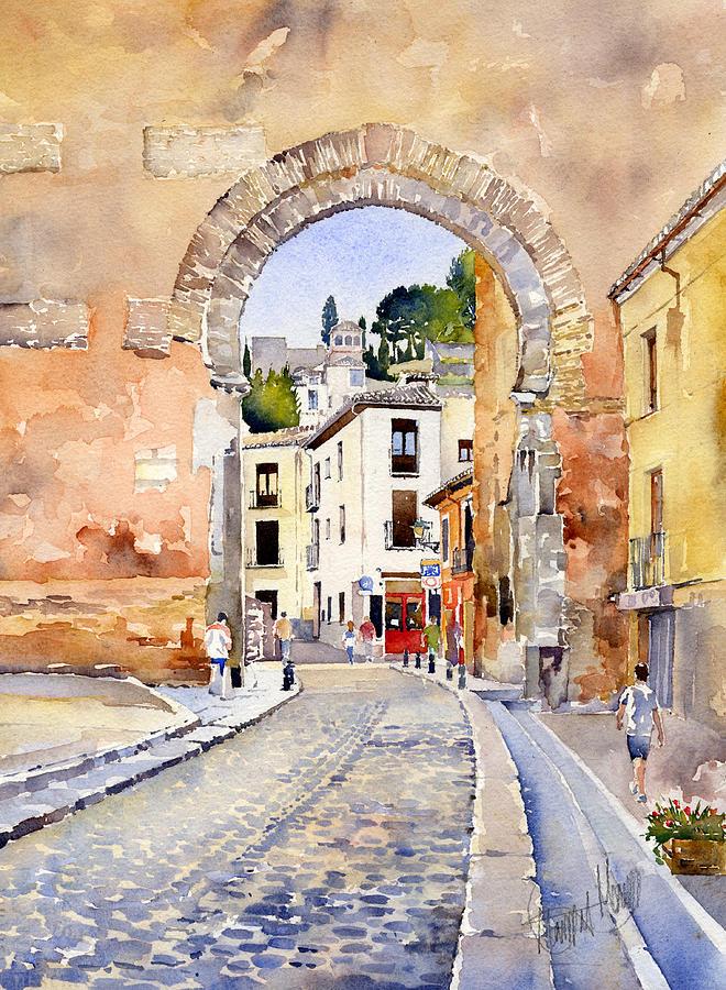 Watercolor Painting - Puerta Elvira by Margaret Merry