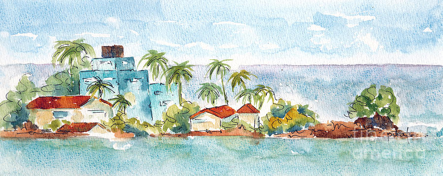Impressionism Painting - Puerto Limon Point by Pat Katz
