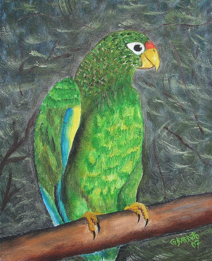 Puerto Rico Painting - Puerto Rican Parrot by Gloria E Barreto-Rodriguez