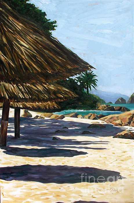 Beach Painting - Puerto Vallarta by Karen Doyle