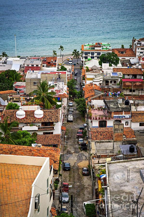 Puerto Vallarta Photograph - Puerto Vallarta Street by Elena Elisseeva
