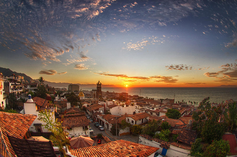 Landscape Photograph - Puerto Vallarta Sunset by Shanti Gilbert