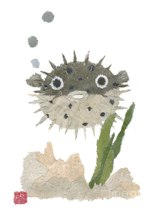 Puffer Painting - Blowfish Art by Keiko Suzuki