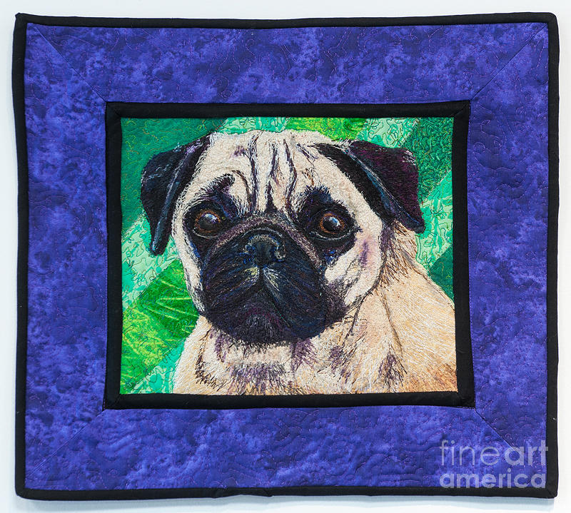 Dog Tapestry - Textile - Pug by Dolores Fegan