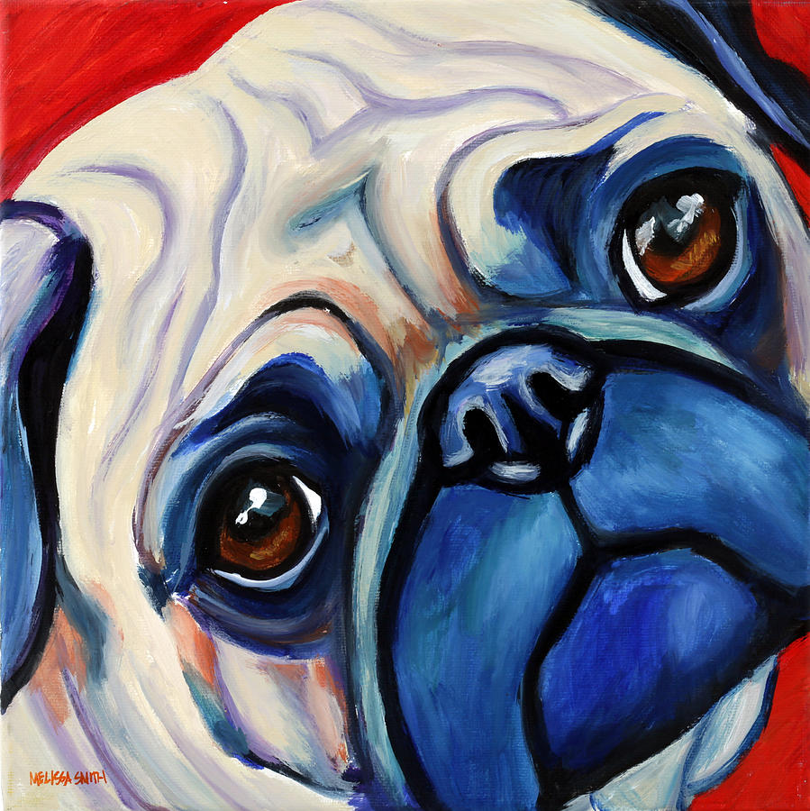 Pug Painting - Pug by Melissa Smith