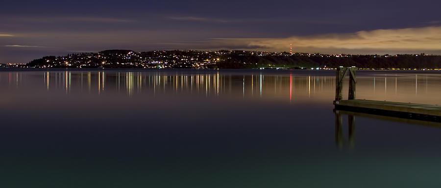 Puget Sound Photograph - Puget Sound Reflections by Greggory Burt